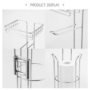 Image 5 - נירוסטה נייר טואלט רול Dispenser רחצה נייר מחזיק Stand בית אחסון מדף עבור טלפון סלולרי