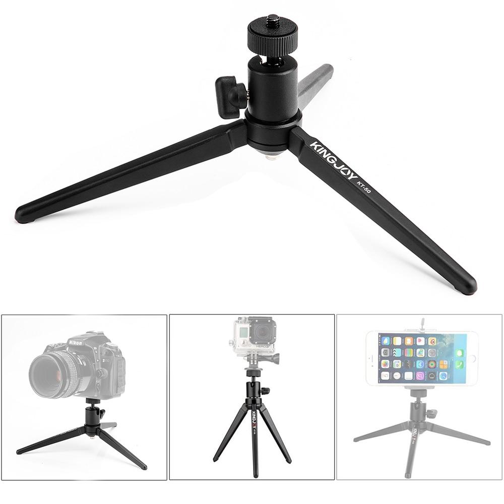 KINGJOY KT50 Portable Mini Tabletop Tripod Max Load 2.7Kg with Swivel Ball Head for DSLR Digital Camera Spotting Scope Camcorder