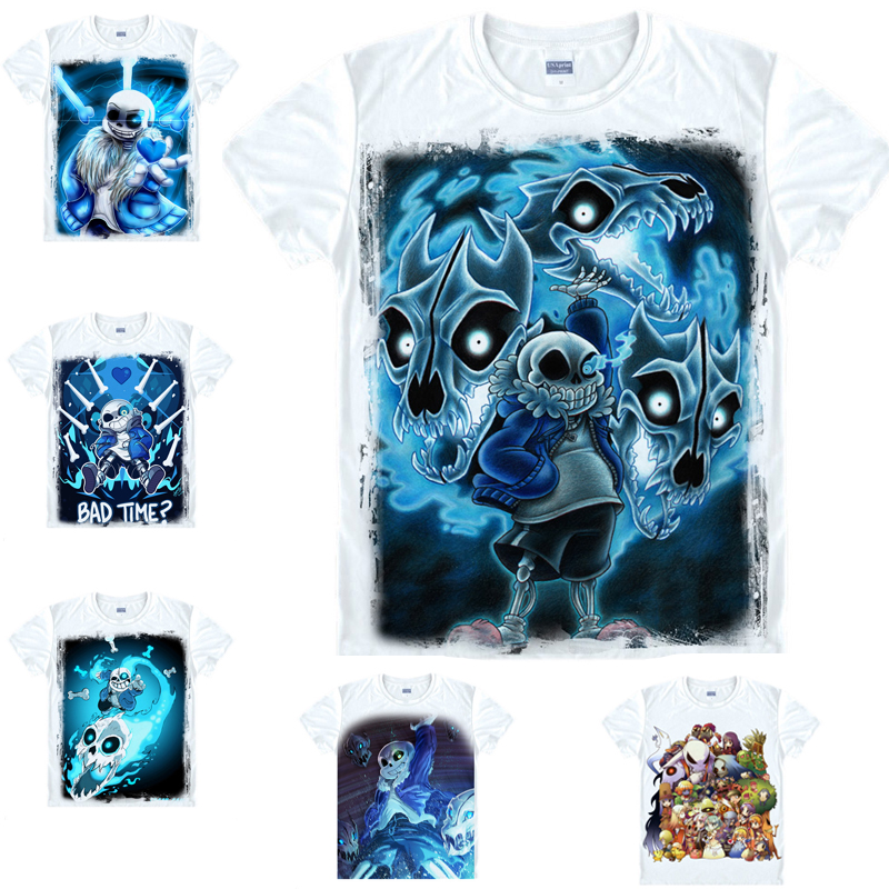 US $8 79 12% OFF|New Game Undertale Sans And Papyrus Skeleton Brother  Unisex Tops Tee White T shirt cosplay costume-in T-Shirts from Men's  Clothing on