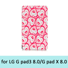 Flower Protective Skin Cover Case With Stand For Lg G Pad x 8.0 And Lg G Pad3 8.0 Tablet Pc Low Price High Quality Free Shipping