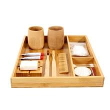Бамбук compartmen настольных отделка коробки гостиничном номере Ванная комната лоток Кухня Столовая посуда коробка для хранения простой Стиль Таблица orangination