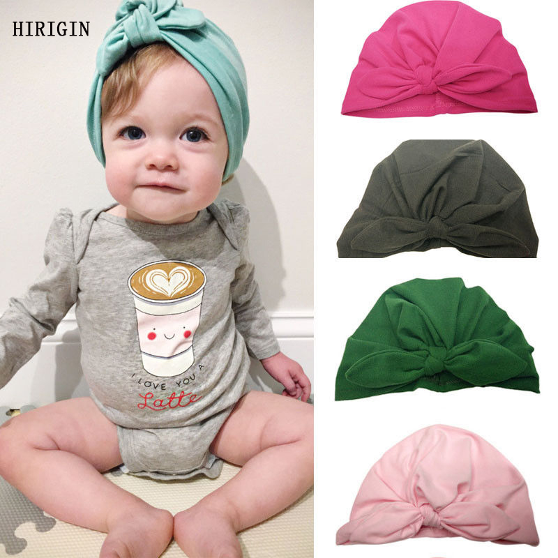 Scarf, Hat & Glove Sets Accessories Honest Fashion Newborn Baby Solid Infant Boy Girl Bowknot Cotton Hospital Cap Beanie Hat