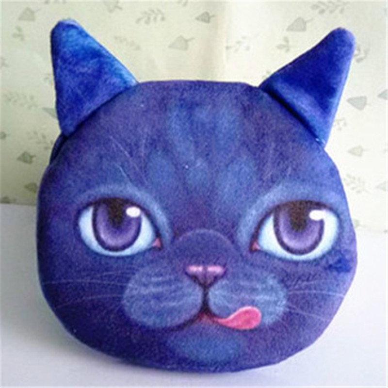 Newest Small Purse For Womens Cute Animal Cat Prints Change Purses Female Wallet Card Holder Coin Bag Ladies Infantiles On Sale 2017 new coin purses wallet ladies 3d printing cats dogs animal big face change fashion cute small zipper bag for women pouch