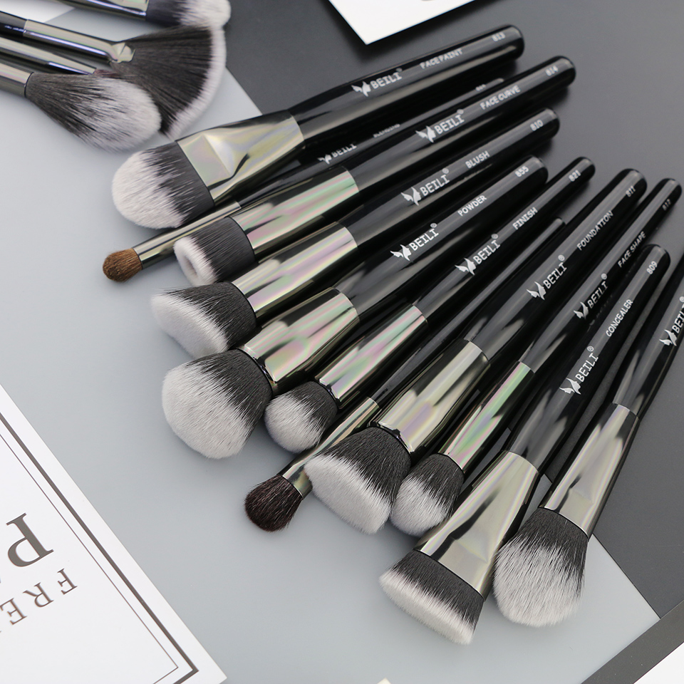 Beili preto profissional 40 peças pincéis de