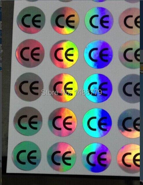 5000 pezzi ce ologramma etichette, etichette adesive ce, ologramma adesivo, diametro 10mm, spedizione gratuita