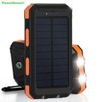 PowerGreen Solar Battery Power Banku 10000 mAh wodoodporny Solar Ładowarka Mini Panel Słoneczny Komórek dla Telefonów Komórkowych za pomocą LED Light