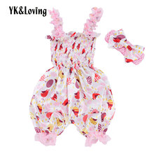 hot deal buy yk&loving cute baby girl sets bib pants fruit printed pink newborn baby girl bib pants easter day style casual baby sets spring