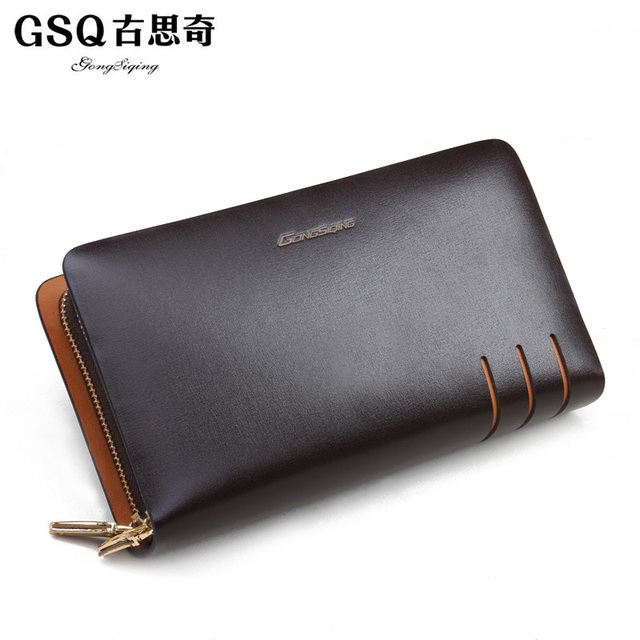 Gsq autumn clutch male commercial day clutch cowhide clutch bag large capacity male wallets