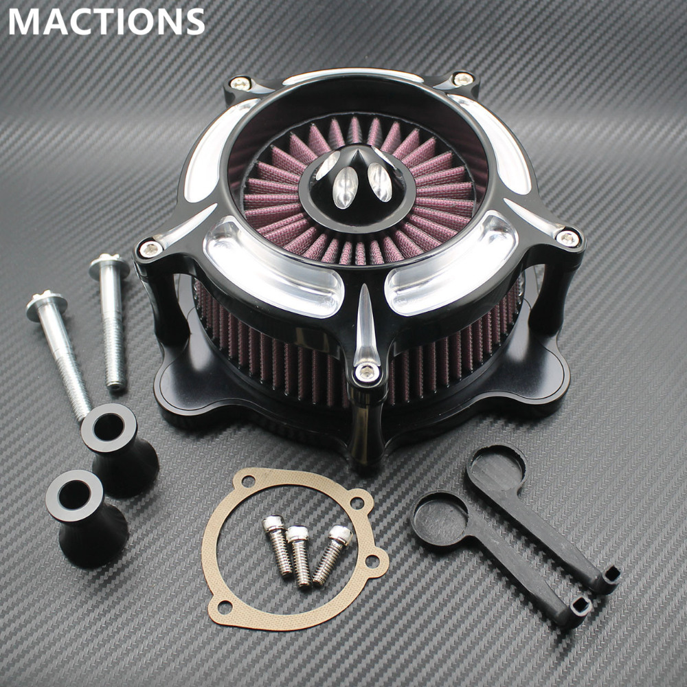 Motorcycle Air Cleaner Filter Turbine Spike Speed 5 Air Red Cleaner Filter For Harley Sportster XL