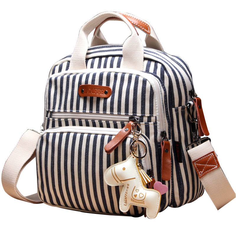 Multifunctional Fashion Backpack New Cartoon Horse Decorate Girls Travel Bag Mummy Maternity Nappy Bag Large Capacity