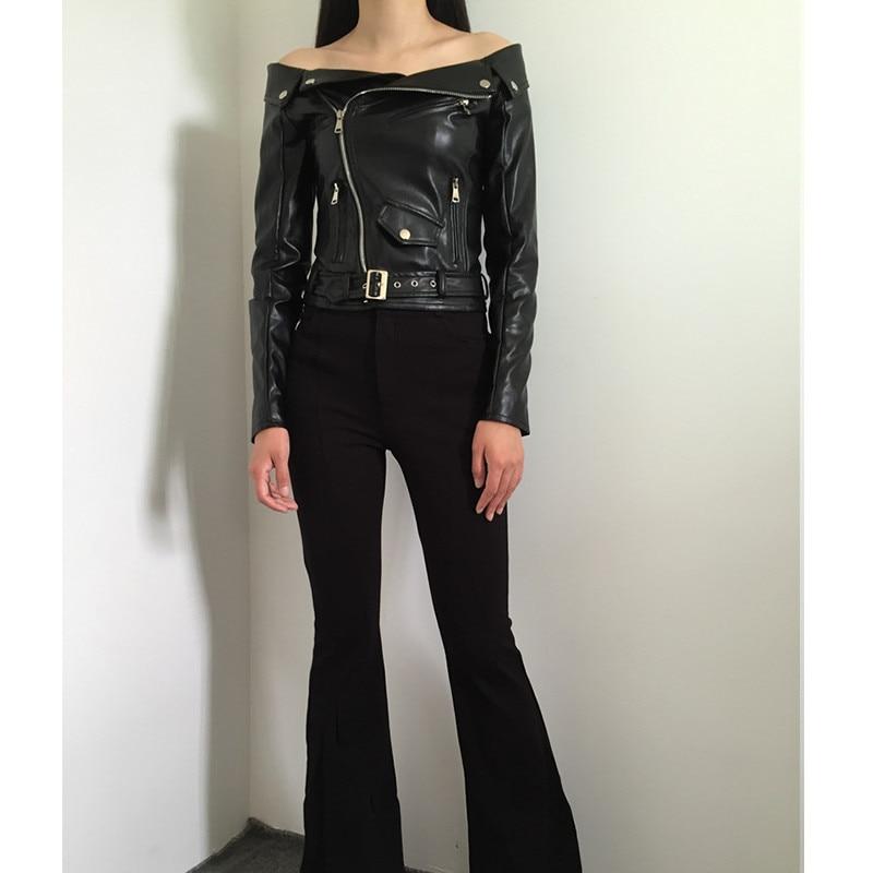 Black Gothique Manteau Femmes Noir Femme De Veste En 2019 Goth Pu Automne Courtes Faux Moto Vestes Fermetures Q372 Cuir L'épaule R35jLq4A