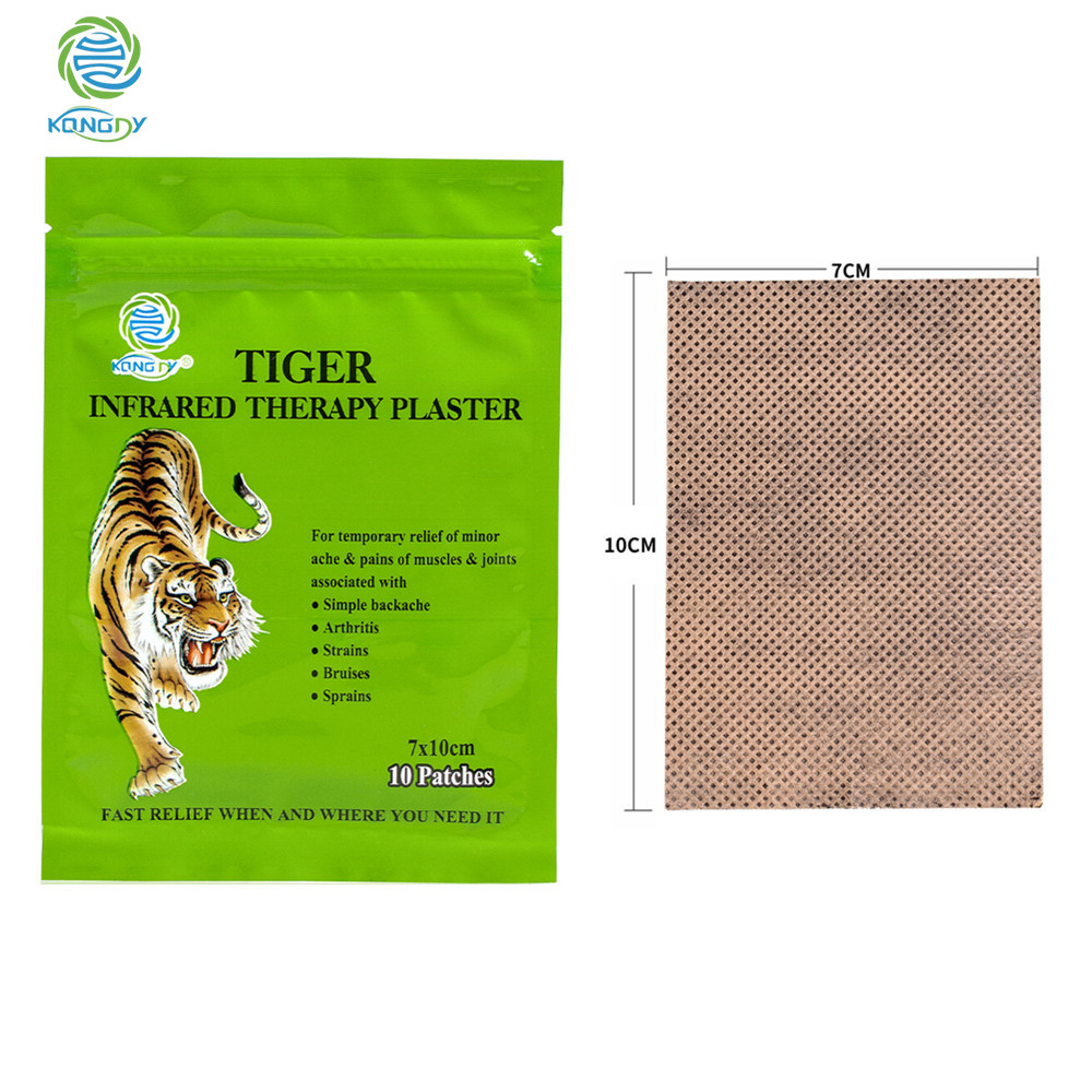 KONGDY Dropship Knee Relief Patch 70 Pieces=7 Bags Tiger Balm Plaster 7x10 CM Breathable Joint Pain Relief Body Massage sumifun 100% original 19 4g red white tiger balm ointment thailand painkiller ointment muscle pain relief ointment soothe itch