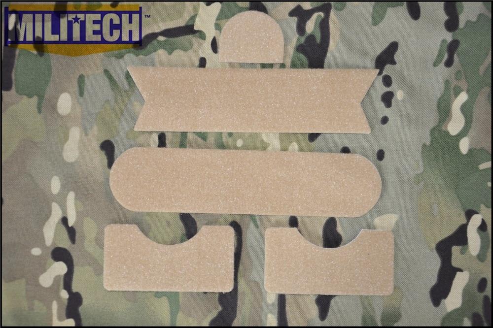 MILITECH DE Desert Color Special SWAT Force Sticky Hook And Loops Set For MARSOC DEVGRU OPS FAST Mich ACH PASGT Gentex Helmets