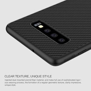 Image 4 - Samsung kılıfı Galaxy S10 Artı S10 + S10E Nillkin Sentetik Fiber Karbon Fiber PP arka kapak sFor Samsung Galaxy S10 Artı Kılıf