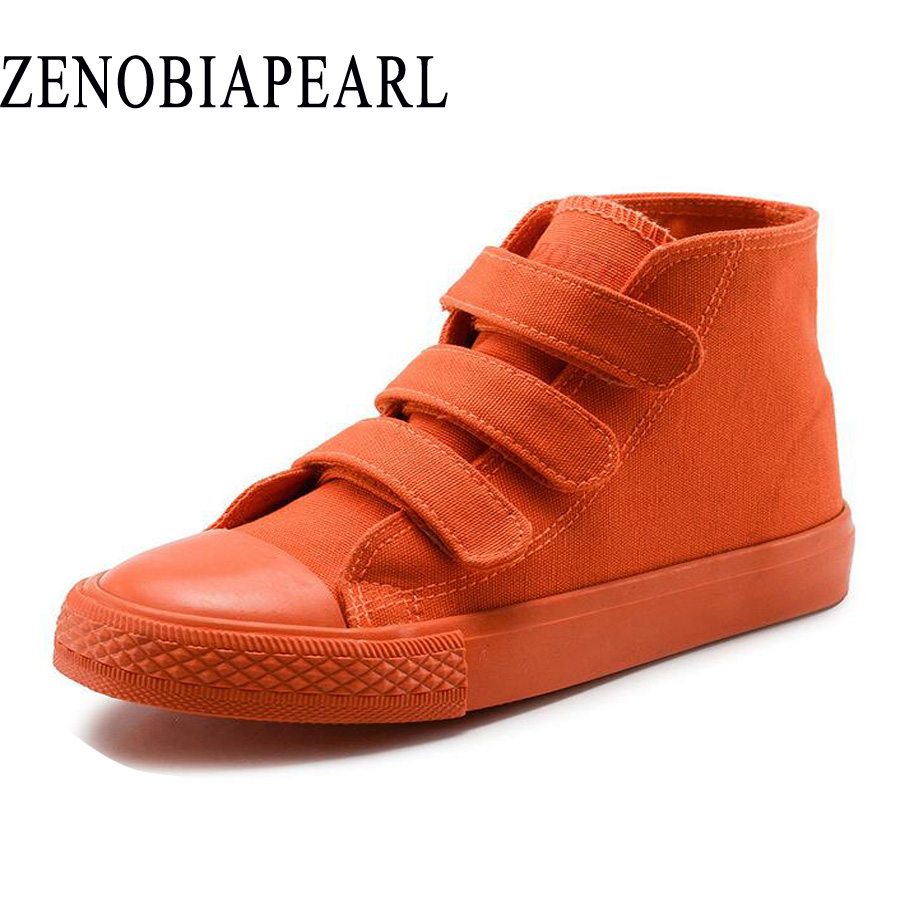 High-qual Autumn children shoes boys girls sneakers fashion kids high tops Breathable canvas shoes Insole length EUR 26-37