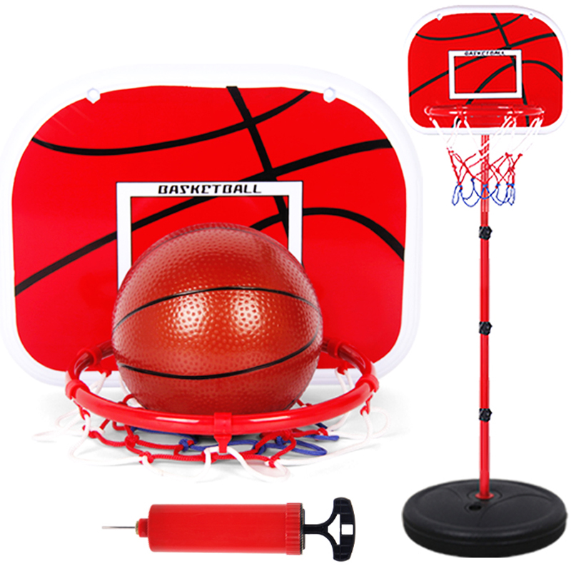 Basketball Stands Height Adjustable Kids Basketball Goal Hoop Toy Set Basketball For Boys Training Practice Accessories