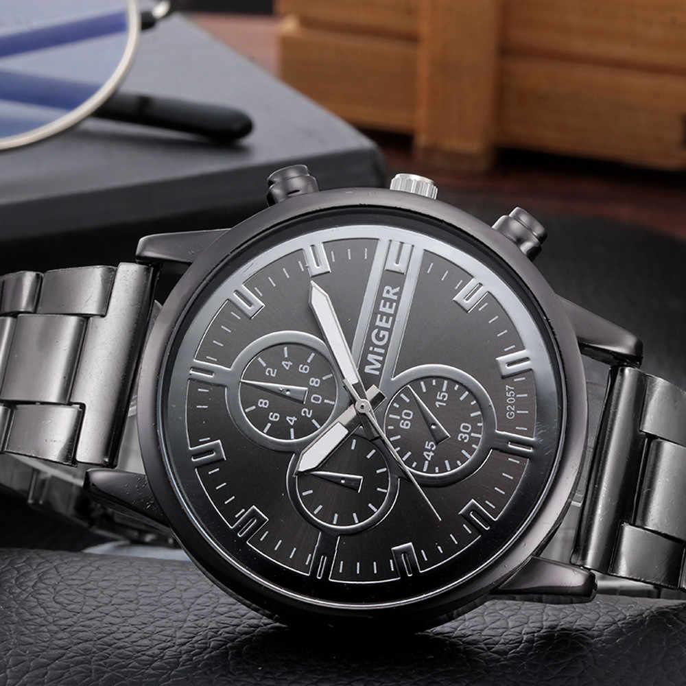 2019 nova moda masculina relógios à prova de água mulher cristal aço inoxidável analógico quartzo relógio de pulso pulseira relogio masculino