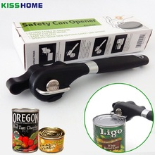 KISSHOME Stainless Steel Safety Can Opener Easy Manual Metal Effortless Cans Side Cut Openers with Turn Knob Home Kitchen Tools yooap cans opener household kitchen tools professional manual stainless steel openers with turn knob