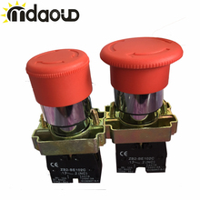 30mm 40mm NC N/C Red Mushroom Emergency Stop Push Button Switch 600V 10A nc emergency stop no red green push button switch station 600v 10a