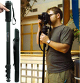 """Tripé weifeng wt1003 monopé câmera tripé leve 67 """"suporte da câmera para canon eos nikon sony fuji olympus todas as câmeras dslr"""