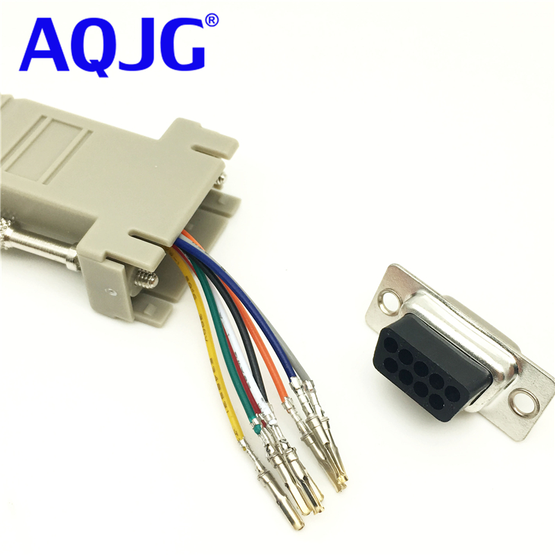 RS232 DB9 Male//Female Plug Connector RJ45 Female Buchse Ethernet Adapter TOP
