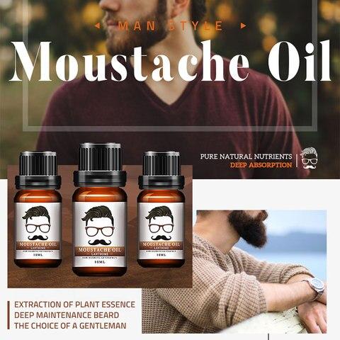 Professional Men Beard Growth Enhancer Herb Hair Growth Liquid Facial Nutrition Moustache Grow Serum Safe Hair Care Oil Multan
