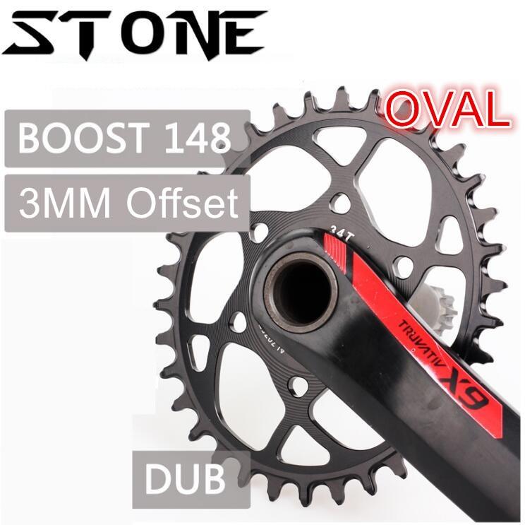 Plateau en pierre ovale Boost 148 DUB GXP 3 MM Offset X9 X0 XX1 X01 X7 S1400 dent 30 t 32 34 T 36 38 T vtt vélo