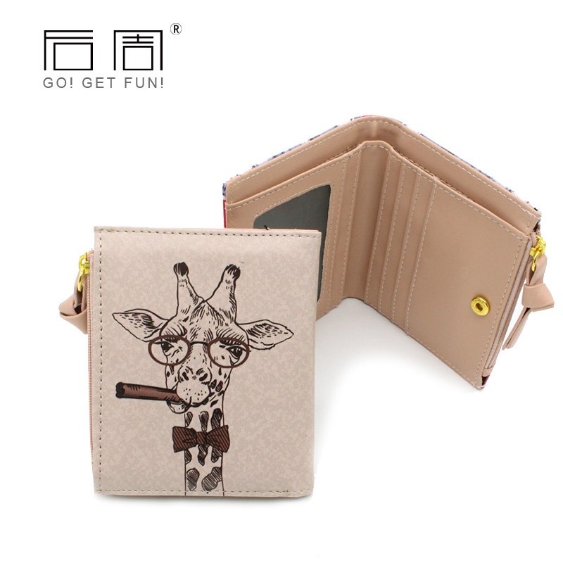 Women Bag 2016 Money Wallet Female Girls PU Leather Animal Prints Women Wallets Delicate Cash Card Holder Zipper Coin Purse B743