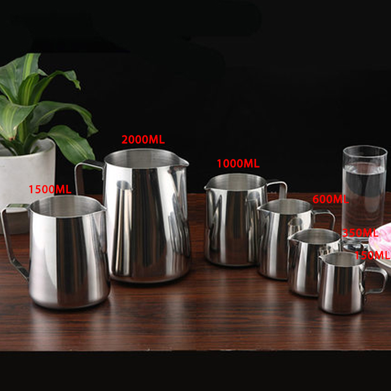 Eworld Stainless Steel Milk Frothing Jug Espresso Coffee Pitcher Barista Craft Coffee Latte Milk Frothing Jug Kitche