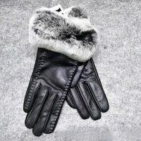 ZDFURS *Women's autumn and winter warm gloves real sheepskin making natural fur gloves 2018 new hot buy discount urban fashion