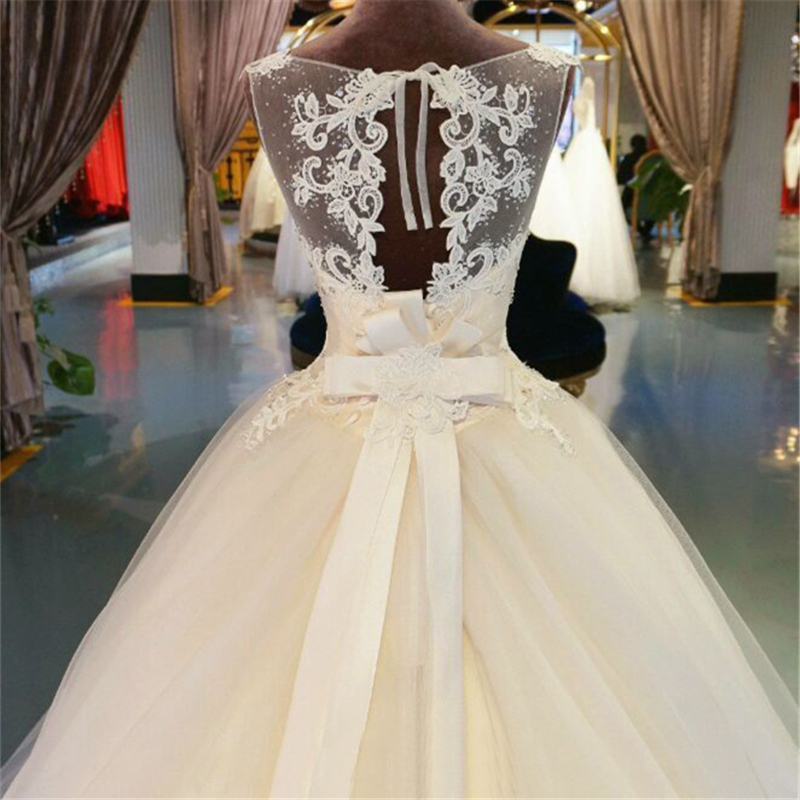 Image 4 - Tulle Lace  Floor Length  Ball Gown Wedding dress Chapel Train  Lace up  Beading  Bridal Gown Custom made-in Wedding Dresses from Weddings & Events