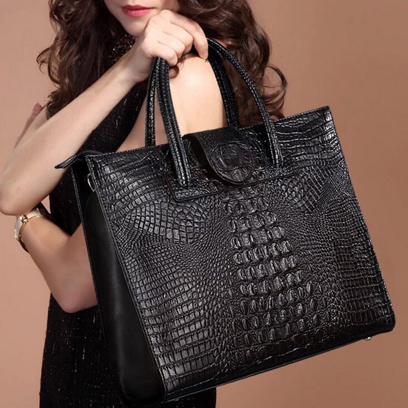 New Brand Alligator Leather Women Handbag Shoulder Bag Luxury Genuine Leather Crocodile Bags Women Crossbody Messenger Bag yuanyu new 2017 hot new free shipping crocodile leather women handbag high end emale bag wipe the gold