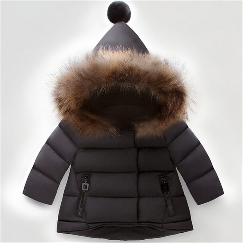 Children Jackets Boys Coat Hooded With Fur Outerwear Warm Winter Jacket Clothing