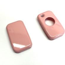Однокнопочный дистанционный флип-ключ защитный чехол глянцевый розовый цвет для Mercedes Benz