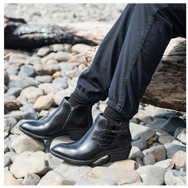 Schwarzes Frauen Bequeme qualität Casual Kopf Mit Klassische Bogen Black Feethigh frosted grau end Runde Modische High leder Stiefel Kurze OqZPgS6yZ