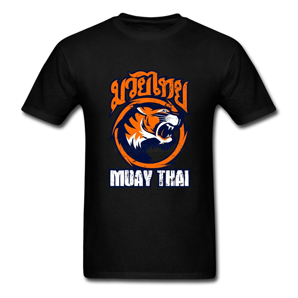 T shirt white brand - 2017 Latest Shirts For Men Tiger Sagat Muay Thai Men T Shirts White Short Sleeve Custom Guys Brand Clothing