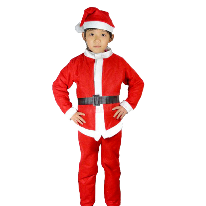ff4f9253c4086 New Children Christmas Clothing 5pcs/Set Baby Boys Girls Santa Suit Dress  Santa Claus Costumes Newborn Infant Clothes With Beard-in Boys Costumes  From .