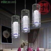 טור קריסטל בועה באיכות גבוהה מודרני אופנה תליון אור לחדר אוכל זכוכית 3 ראשים Led Ac 80-265 v 1086