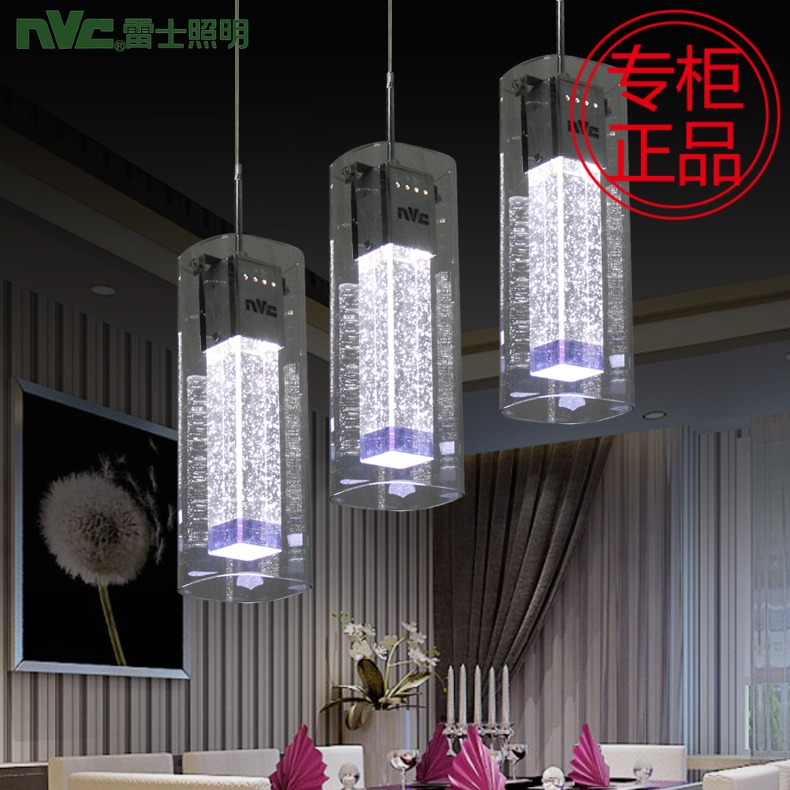 Fashion Modern High Quality Bubble Crystal Column Glass 3 Heads Led Pendant Light For Dining Room Ac 80-265v 1086 modern fashion luxurious rectangle k9 crystal led e14 e12 6 heads pendant light for living room dining room bar deco 2239