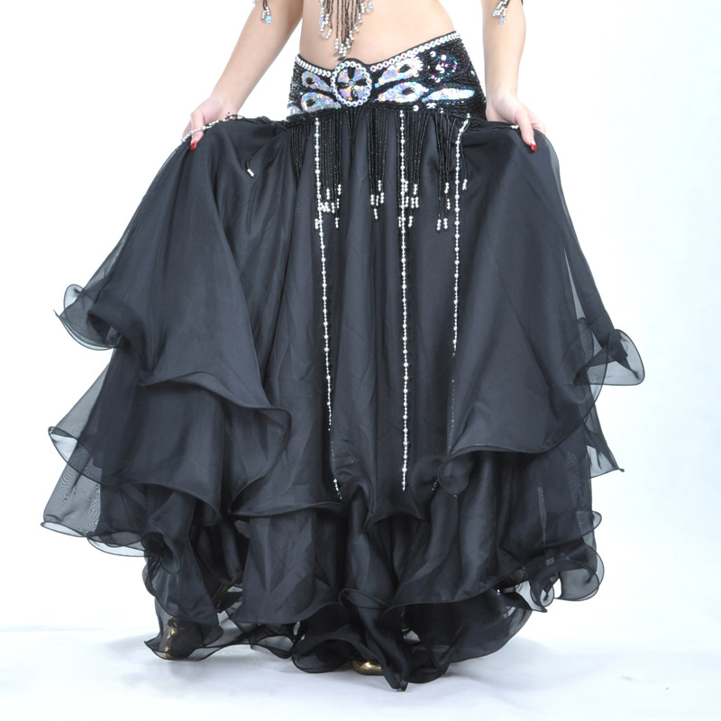 Gypsy Belly Dance Costume 23 Meters Circle Open Big Multicolor Skirt 2 Colors