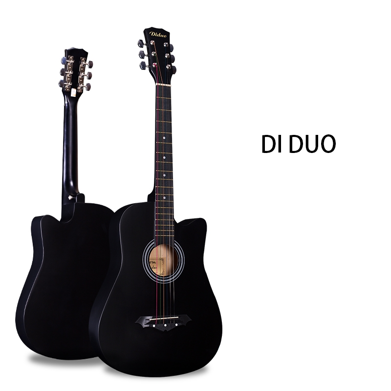 buy 38 guitar guitarra 6 string cutaway folk acoustic guitar for beginners. Black Bedroom Furniture Sets. Home Design Ideas