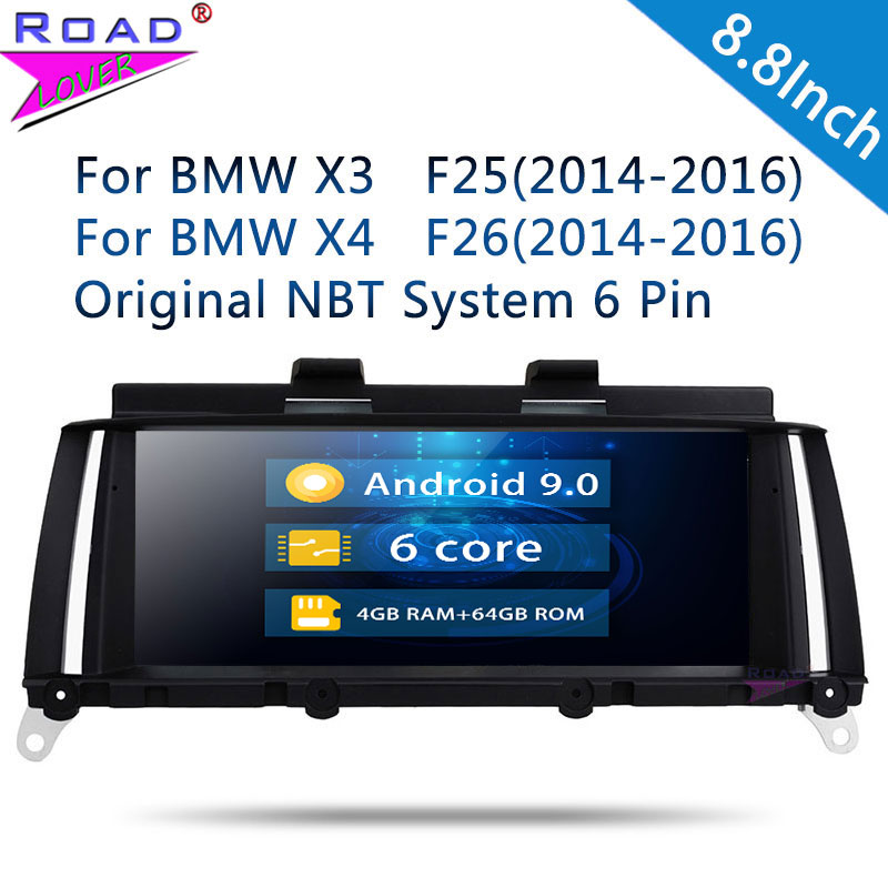 Roadlover Android 9.0 lecteur d'autoradio pour BMW X3 F25 X4 F26 (2014 2015 2016) X3 F25 (2011 2012 2013 navigation stéréo GPS sans DVD