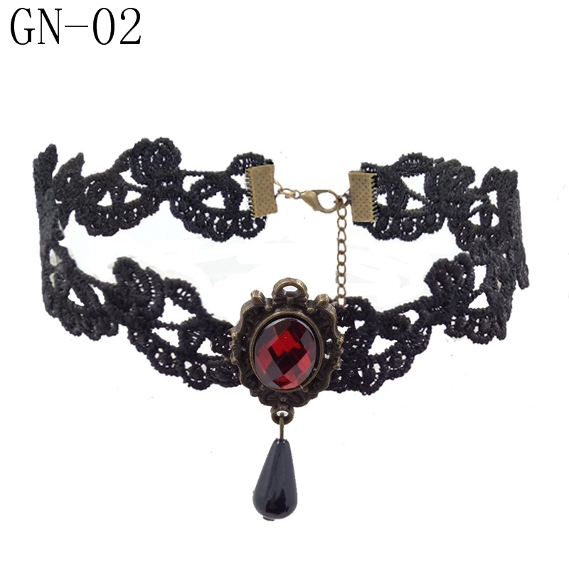 HTB1PM6uB2iSBuNkSnhJq6zDcpXaz - YiYaoFa Vintage Choker Necklace Gothic Jewelry Necklaces & Pendants False Collar Statement Necklace for Women Accessories GN-07
