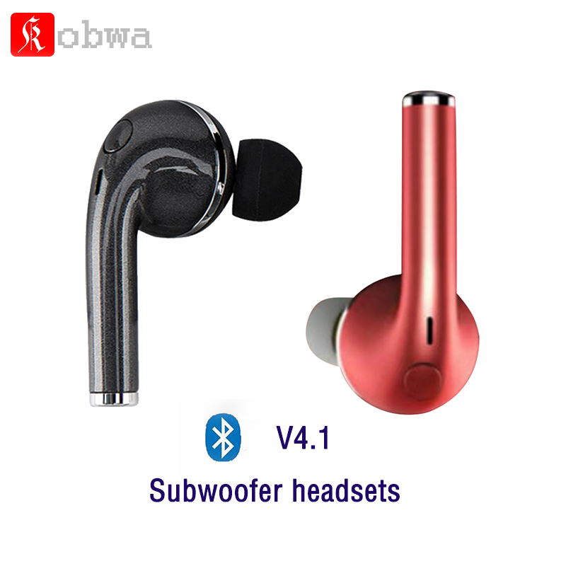 Kobwa Subwoofer Stereo bluetooth headsets earpieces handsfree mini Invisible earbuds with mic for iphone xaomi android phone