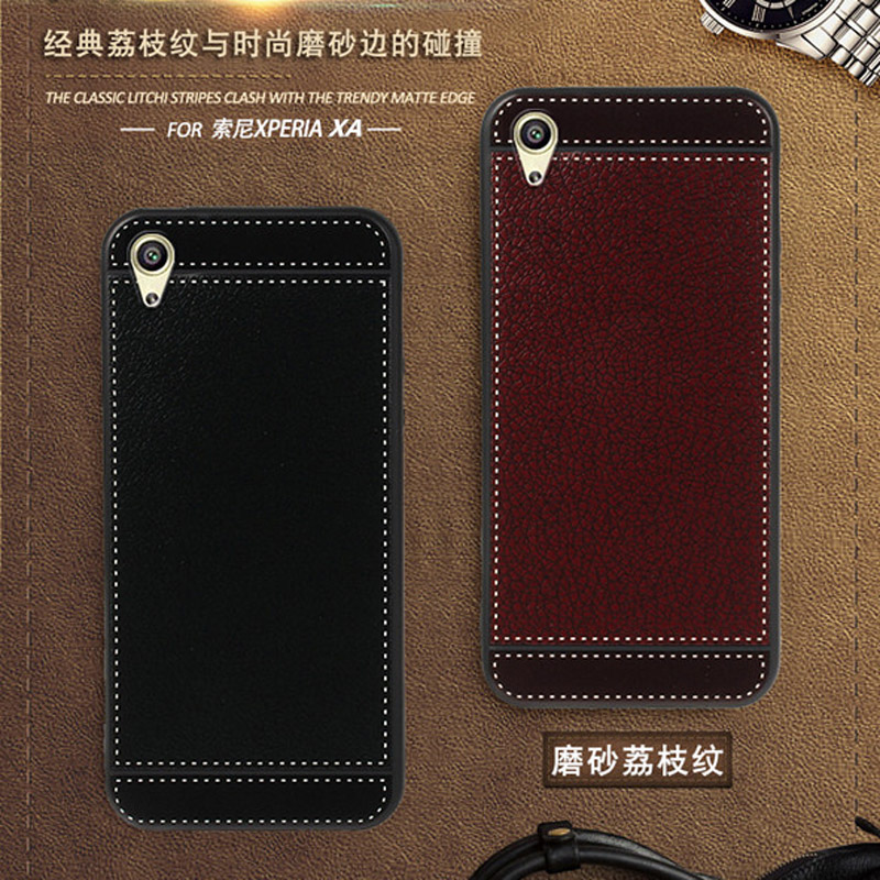 iSecret Funda for <font><b>Sony</b></font> <font><b>Xperia</b></font> XA <font><b>F3111</b></font> F3112 F3115 <font><b>Case</b></font> leather 5.0inch Soft Black silicone Cover for <font><b>Sony</b></font> <font><b>Xperia</b></font> XA <font><b>Case</b></font> Luruxy image