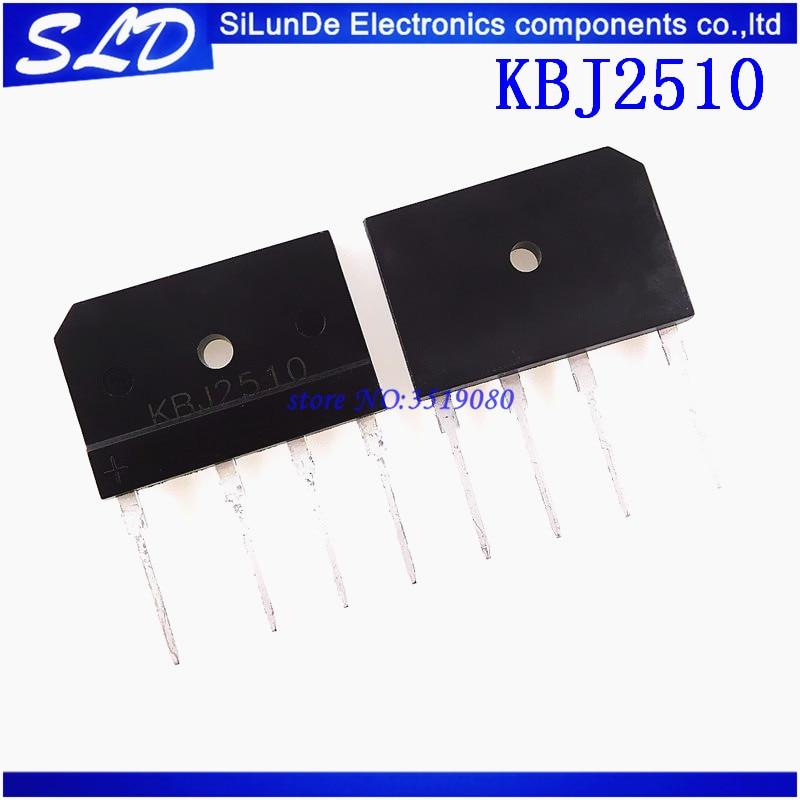 Free Shipping 100pcs lot KBJ2510 KBJ 2510 25A1000V DIP 4 new and original in stock