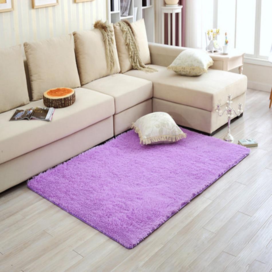 long plush shaggy warm soft carpet area rug slip resistant door floor mat pad blacket for - Area Carpets