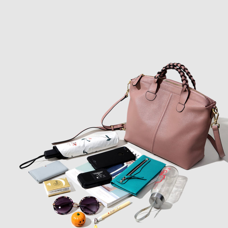 Cuir Veau Livraison Sacs Rétro Gratuite Tissé Messager Main Femmes Poignée light De burgundy Capacité Pink Bare Épaule À Des Sac Grande Nouvelle Gray Souple classic Simple Black 7IAWrzA
