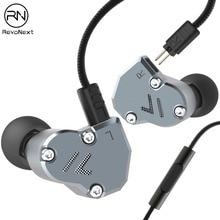 RevoNext QT2 écouteurs intra auriculaires métal stéréo écouteurs musicaux 3.5mm filaire écouteurs isolation du bruit qualité casque pour téléphone portable