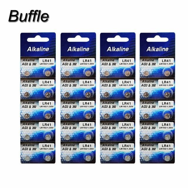 433c9c347d4 40 pcs 4 pack Buffle Novo Relógio Baterias AG3 LR41 DA Pilha da Tecla do
